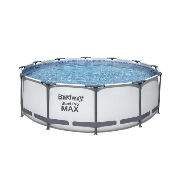 Bestway® Ersatzpool Steel Pro MAX™ Frame Pool, 366 x 100 cm, ohne Zubehör, rund, weiß