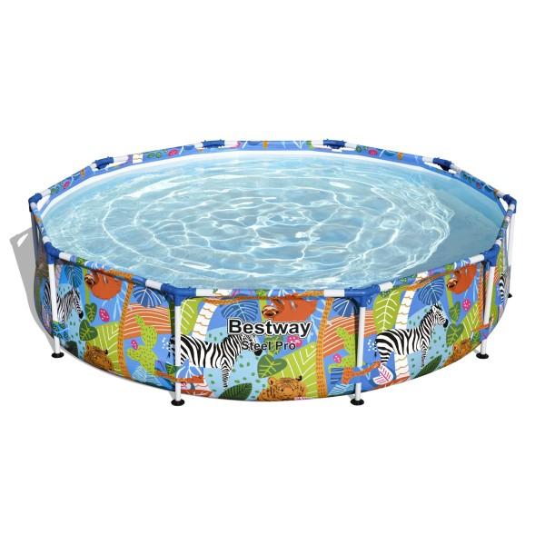 Steel Pro™ Frame Pool, 305 x 66 cm, ohne Pumpe, rund, bund