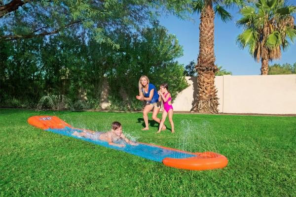 """H2OGO!™ Wasserrutsche mit aufblasbarer Startrampe """"Single Ramp"""" 549 cm"""