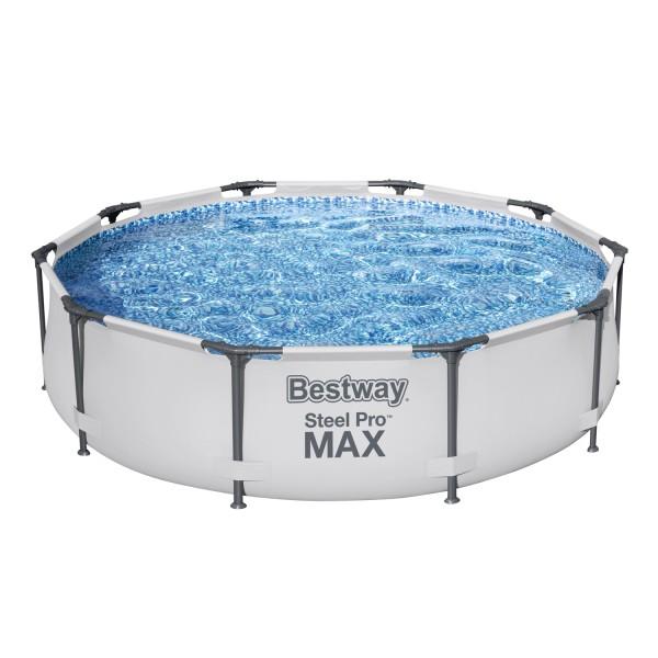 Steel Pro MAX™ Frame Pool, 305 x 76 cm, ohne Pumpe, rund, weiß