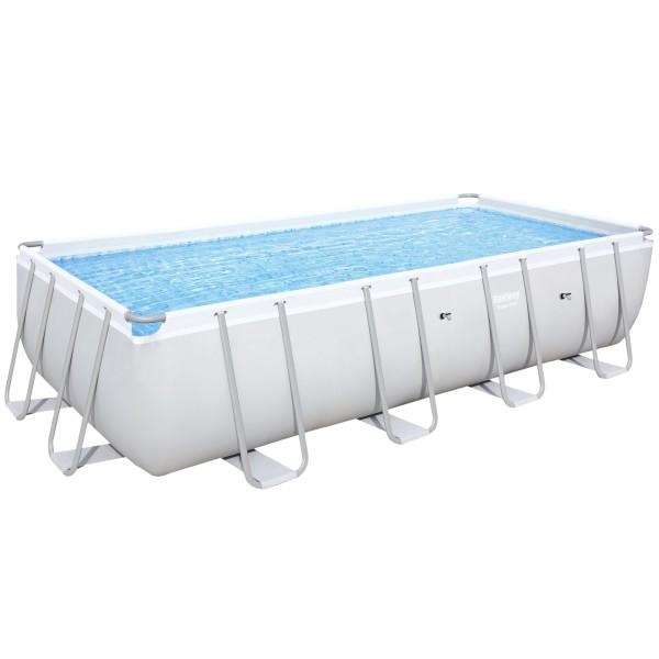 Bestway® Ersatzpool Power Steel™ Frame Pool, 549 x 274 x 122 cm, ohne Zubehör, eckig, grau