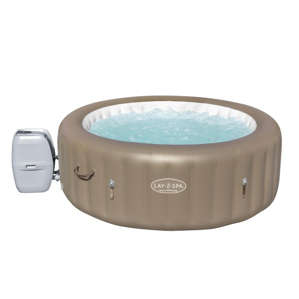 LAY-Z-SPA® Palm Springs AirJet™ Whirlpool, 196 x 71 cm, 4-6 Personen, rund, Taupe