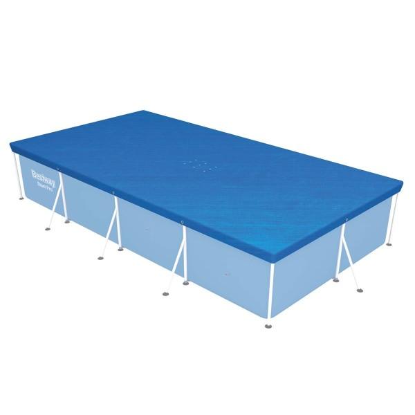 Flowclear™ PE-Abdeckplane 410 x 226 cm, für eckige 400 x 211 cm Steel Pro™ Pools, blau