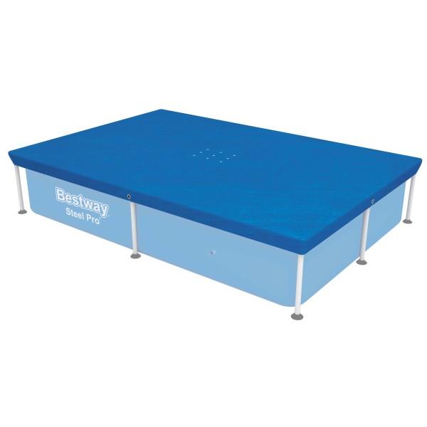 Flowclear™ PE-Abdeckplane 224 x 154 cm, für eckige 221 x 150 cm Steel Pro™ Pools, blau